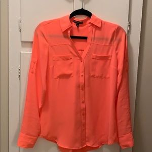 Express Pink button down shirt